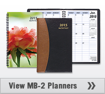 MB-2 Monthly Planner 5.5 x 8.5 inches