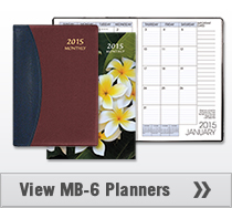 MB-6 Monthly Planner 7 x 10 inches
