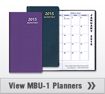MBU-1 Monthly Pocket Planner Upright 3.5 x 6.5 inches