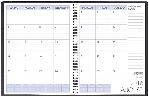 Smb Skivertex Academic Monthly Planner
