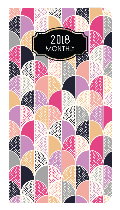 Mb 1v Deco Monthly Pocket Planner 3 5 X 6 5 Inches