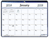 VPM-811 2018 Magnetized Monthly Vinyl Pad Calendar