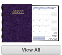 SMB-3 Academic Monthly Planner 8.5 x 11 inches