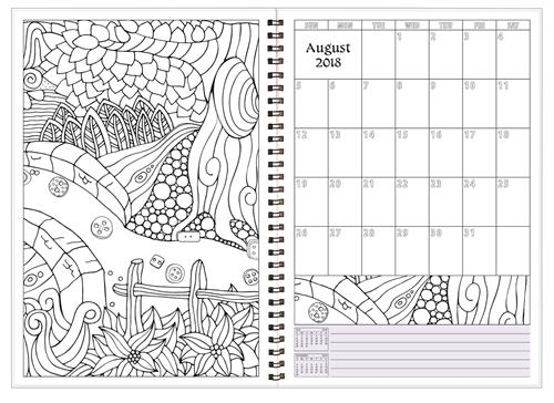 SMB-6WCP Academic Monthly Color My Planner 7 x 10 Inches