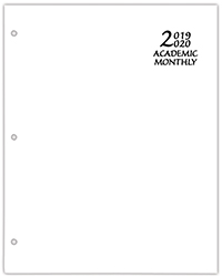 SMB-3E Economy Academic Monthly Planner White