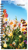PA-12 Floral Medium Address Book