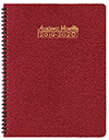 SMB-3C Cobblestone Academic Monthly Planner Ruby Red